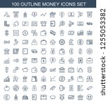 money icons. trendy 100 money... | Shutterstock .eps vector #1255053382