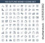 money icons. trendy 100 money... | Shutterstock .eps vector #1255053382