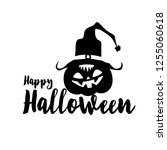 happy halloween party title... | Shutterstock . vector #1255060618