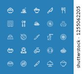editable 25 plate icons for web ... | Shutterstock .eps vector #1255062205