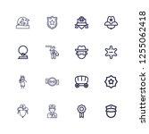 editable 16 sheriff icons for... | Shutterstock .eps vector #1255062418