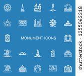 editable 22 monument icons for... | Shutterstock .eps vector #1255063318
