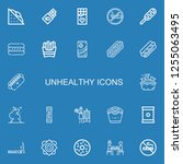 editable 22 unhealthy icons for ...   Shutterstock .eps vector #1255063495