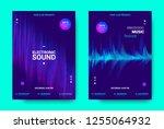 electronic music movement... | Shutterstock .eps vector #1255064932