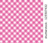 Pink Gingham Cloth Background...