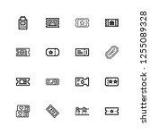 editable 16 raffle icons for... | Shutterstock .eps vector #1255089328