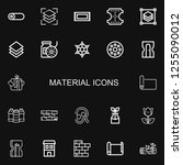 editable 22 material icons for... | Shutterstock .eps vector #1255090012