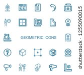 editable 22 geometric icons for ... | Shutterstock .eps vector #1255090015