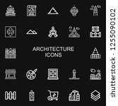 editable 22 architecture icons... | Shutterstock .eps vector #1255090102