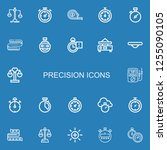 editable 22 precision icons for ... | Shutterstock .eps vector #1255090105