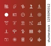 editable 25 guide icons for web ... | Shutterstock .eps vector #1255090312