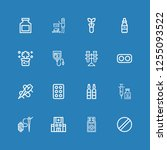 editable 16 medication icons... | Shutterstock .eps vector #1255093522