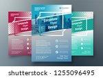 corporate flyer design template ...   Shutterstock .eps vector #1255096495