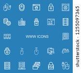 editable 22 www icons for web...   Shutterstock .eps vector #1255097365