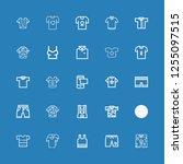 editable 25 short icons for web ... | Shutterstock .eps vector #1255097515