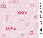 hand written valentine's day... | Shutterstock .eps vector #1255111762