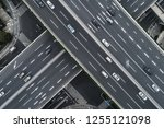 aerial view of highway and... | Shutterstock . vector #1255121098