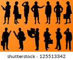 engineer women and men people... | Shutterstock .eps vector #125513342