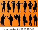 engineer women and men people...   Shutterstock .eps vector #125513342