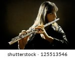 Flute Music Flutist Instrument...