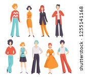 collection of young men and... | Shutterstock .eps vector #1255141168