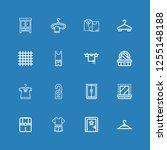 editable 16 hanger icons for... | Shutterstock .eps vector #1255148188