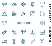 editable 22 cord icons for web... | Shutterstock .eps vector #1255149265