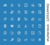 editable 36 merchandise icons... | Shutterstock .eps vector #1255149442