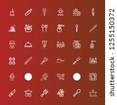 editable 36 spoon icons for web ... | Shutterstock .eps vector #1255150372