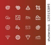 editable 16 whole icons for web ... | Shutterstock .eps vector #1255152895