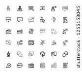 editable 36 forum icons for web ...   Shutterstock .eps vector #1255153045