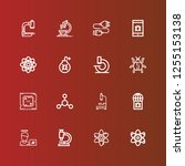 editable 16 micro icons for web ... | Shutterstock .eps vector #1255153138