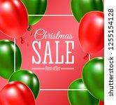 christmas sale banner. vector... | Shutterstock .eps vector #1255154128
