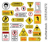 zombie attention beware and... | Shutterstock .eps vector #1255154272