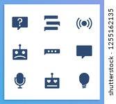 bot communication icon set and...