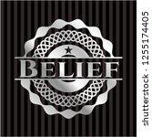 belief silver shiny badge | Shutterstock .eps vector #1255174405