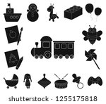 children's toy black icons in... | Shutterstock .eps vector #1255175818
