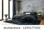 3d render of beautiful bedroom... | Shutterstock . vector #1255177432