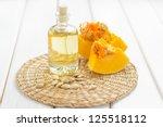 pumpkin seed oil | Shutterstock . vector #125518112