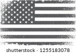 american flag.grunge flag of... | Shutterstock .eps vector #1255183078