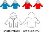 winter sport clothes baby... | Shutterstock .eps vector #1255185292