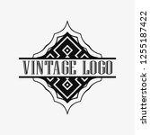 luxury antique art deco... | Shutterstock .eps vector #1255187422