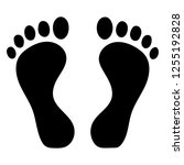 footprint silhouette isolated | Shutterstock .eps vector #1255192828