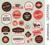 set of vintage badges and labels | Shutterstock .eps vector #125519342