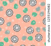 fruit seamless pattern with...   Shutterstock .eps vector #1255194082