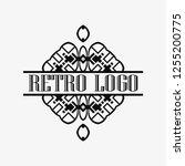 luxury antique art deco...   Shutterstock .eps vector #1255200775