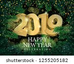 vector text design 2019... | Shutterstock .eps vector #1255205182