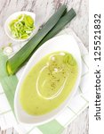Delicious Leek Soup In White...