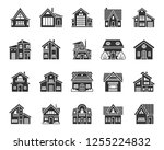 house silhouette icons set. web ... | Shutterstock .eps vector #1255224832