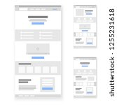 landing page website wireframe...